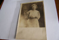 Rare Antique Vintage RPPC Real Photo Postcard Wakarusa Indiana Postmarked 1907