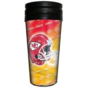 Kansas City Chiefs Majestic NFL 16oz Logo Wrap Travel Mug FREE SHIP!!