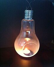 Retro Large Glass Light Globe Hanging Tealight Candle Holder Terrarium Cool Gift