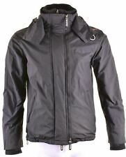 SUPERDRY Mens Windbreaker Jacket Size 38 Medium Black Nylon Windcheater CN14
