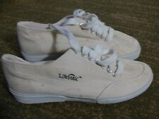 Men's LifeMax Canvas Tennis Shoes, Beige, Size 10.5 M, With Stains, New