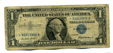 Star 1957 Silver Certificate Money$1 Dollar Bill Starnote*30315906B Note #1352