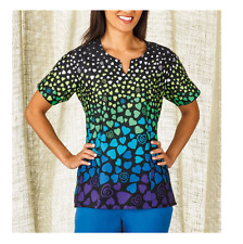 {XL} Medical Uniform Top By Bio Trust Your Journey Hope Scrub Top