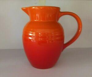 LE CREUSET Orange Flame - Hombre,  0.7L Stoneware Pitcher, NEW