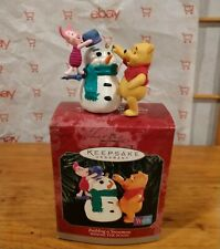 Hallmark Keepsake Winnie The Pooh Building A Snowman & Just What They Wanted
