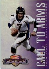 1998 Leaf Rookies and Stars Crusade Purple Football Card #9 John Elway /100