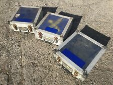 3 X Flight Case Square Boxes For Photographic And Musical Equipment Etc