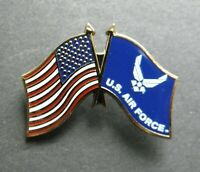 US AIR FORCE WINGS USAF COMBO USA WAVY FLAG LAPEL PIN BADGE 1.1 INCHES