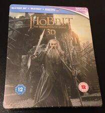 Hobbit DESOLATION OF SMAUG 3D Blu-Ray 4-Disc SteelBook. Rare! Region Free Import