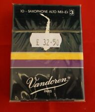 Alto Sax reeds (10 No.) sealed individual packets Eb by Vandoren Strength 3