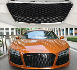 For 13-16 Audi R8 RS Style Front Sport Honeycomb Grille Mesh Hex Grill