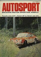 AUTOSPORT 12th LUGLIO 1968 * FRENCH GRAND PRIX & JO Schlesser ucciso *