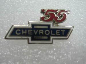 1955   Chevrolet Bowtie  Lapel Hat Pin Badge