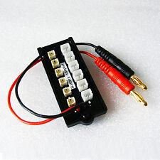 6x Micro JST 6x JST-PH parallel Adapter Board 160 180 1S Lipo Akku imax B6 Blade