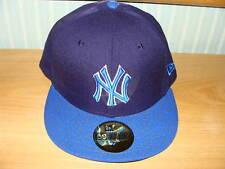 New York Yankees New Era Hat Pebble Blue Cap MLB 7 3/8