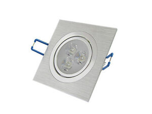 10 x 3w LED Recessed Ceiling Square Downlight Fixture Cabinet High Power Lamp