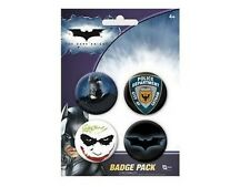 Batman Dark knight Blister de 4 Badges Officiels Batman badge pack