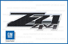 2007 - 2013 Chevy Silverado Z71 4x4 Decals Set - FSCFB Stickers Carbon Fiber Bed