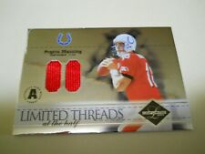 New listing PEYTON MANNING ( DUAL PRO BOWL JERSEY ) LIMITED PATCH CHROME CARD #19/35 HOF QB