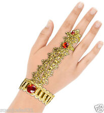 Bollywood Jeweled Hand and Finger Bracelet Halloween Costume Accessory