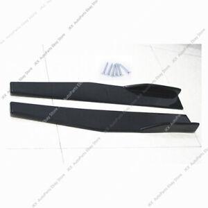 Universal Style Side Skirt extend CS Bottom Splitters Winglet Shovel PP Black c