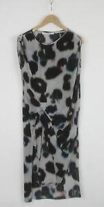ALLSAINTS ECHO RIVIERA Women EU 36 or ~S 100% Silk Printed Draped Dress 25803_JS