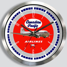 CANADIAN PACIFIC AIRLINES DOUGLAS DC-3 WALL CLOCK METAL CPAIR