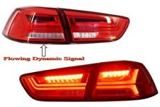 LED Taillights Mitsubishi Lancer EVO X 08+ Red/Clear Flowing Dynamic Signal .