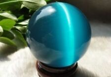 Lake blue 38-40MM+Stand Mexican Opal Sphere Crystal Ball /Gemstone