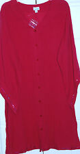 "NEW! SWIM365 SZ 14-16  100% COTTON COVER UP (54"" BUST/39""LENGTH)"