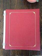 Creative Memories Red Expandable Album 8x10 15 Pages Open Spine Gold Foil