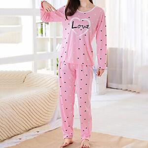 stylx Damen Pyjama Set Plaid Schlafanzug Langarm Kariertes Pyjama Set Nachtw/äsche Weich Damen Lounge Sets