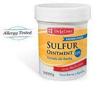 De la Cruz Sulfur Ointment 10% Acne Medication 2.5 Oz