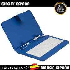 """Funda con Teclado en Español para Tablet Pc 10"""" CoverPAD Azul Marca España"""