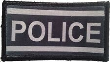 police hook and loop embroidered patch package of 4