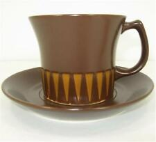 MCM Ben Seibel Forum International Chocolate Brown Cup Saucer NOS Paper Label