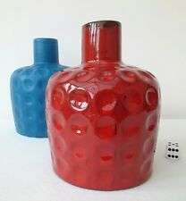 *SALE* MELITTA CERACRON GERMAN 60s 70s VINTAGE POP ART BUBBLE FAT LAVA RED VASE