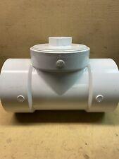 "6"" 40 Sch PVC DWV Cleanout Tee W/ Plug 6"" Slip X 6"" Slip X 6""FPT Rain Water Cond"