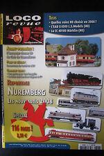 MODELISME FERROVIAIRE TRAIN MAGAZINE LOCO REVUE N° 728 de 2008
