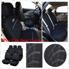 5-Sit Deluxe Edition Car Seat Cover Protector Durable Seat Covers Interior Black