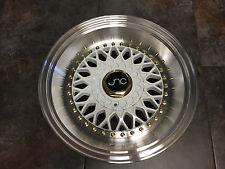 17x8.5/10 JNC004S RS NEW SLANT LIP Wheels 5x100 / 5x114.3 White Machine Lip Rims