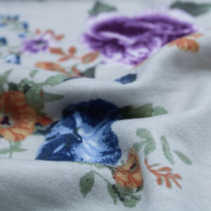 Medium Floral Pattern Printed French Terry Spandex Fabric - Style P-2115-506