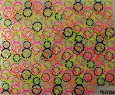 Nailart stickers ongles autocollants: cercles multicolores superposés design