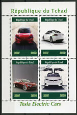 Chad 2019 CTO Tesla Electric Cars 4v M/S Transport Stamps