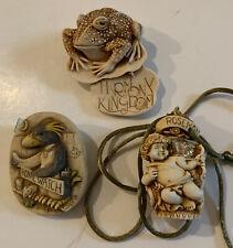 Harmony Kingdom 1997 Toad Pin, 1998 Rosemont Angel,1999 Murphy Royal Watch Pin