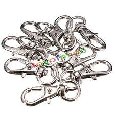 10/20/50pcs Lobster Trigger Swivel Clasps Split for Keyring Hook Key Ring