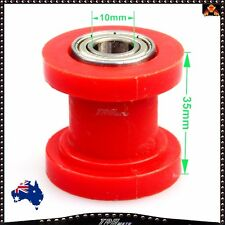 RED 10mm Hole Dirt Pit Bike Chain Rollers Pulley DHZ Atomik Pitpro Thumpstar New