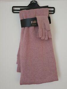 Ladies scarf and glove set