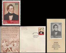 Franz Schubert Music Composer   FDC FOLDER 1978 India  classical Austria musik