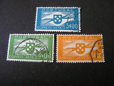 *PORTUGAL, SCOTT # C4/C5(2)+C8, TOTAL 3 1936-41 AIR POST ISSUE USED